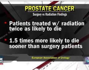 prostate cancer surgery vs radiation